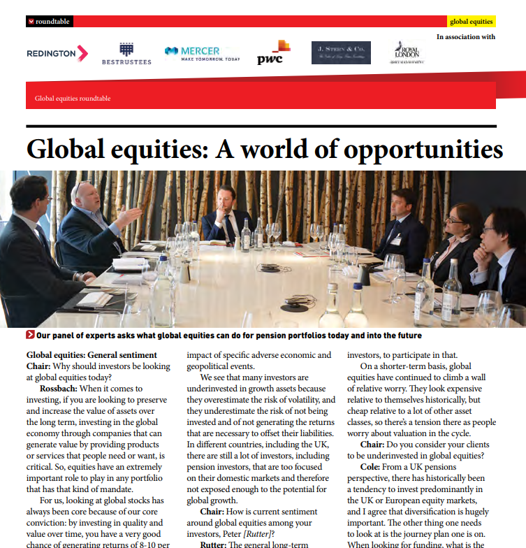 Pension Age: Global equities – A world of opportunities